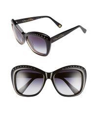 Oscar de la Renta - Black 54mm Cat Eye Sunglasses - Lyst