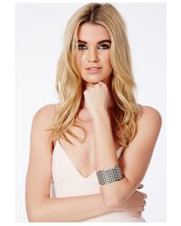 Missguided | White Toby Chunky Spike Bracelet | Lyst
