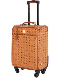 MCM - Brown Small Coated Canvas Cabin Trolley - Lyst