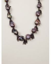Samira 13   Gray Pearl Necklace   Lyst