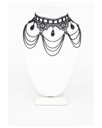 Missguided - Marcella Gothic Chandelier Style Necklace Black - Lyst