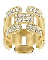 Swarovski | Metallic Cube Ring | Lyst