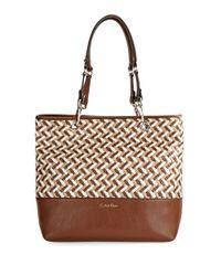 Calvin Klein | Brown Shopper Tote | Lyst