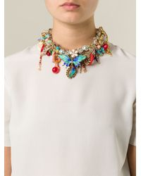 Night Market - Metallic 'Butterfly' Necklace - Lyst