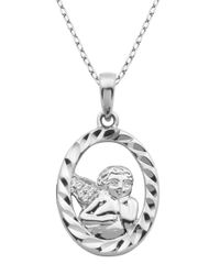 Lord & Taylor - Metallic Angels And Fashion Newness Sterling Silver Angel Pendant Necklace - Lyst