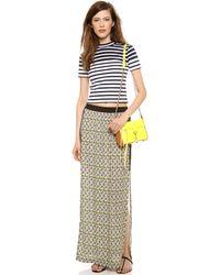 Cut25 by Yigal Azrouël - Green Printed Long Skirt - Lyst