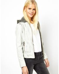 Doma Leather | Natural Washed Leather Jacket with Studs | Lyst