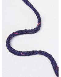 Scosha - Metallic Fishtail Braid Bracelet for Men - Lyst
