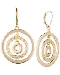 Anne Klein | Metallic Gold-tone Orbital Drop Earrings | Lyst