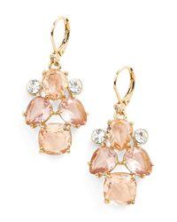 kate spade new york - Metallic Faux Pearl Drop Earrings - Lyst