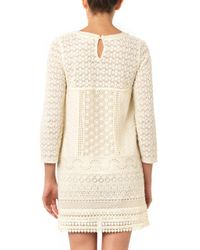 Vanessa Bruno Athé | Natural Billy Guipure-lace Dress | Lyst