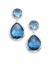 Ippolita - Rock Candy London Blue Topaz & Sterling Silver Snowman Post Earrings - Lyst