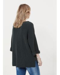 Violeta by Mango - Green Cotton Wool-blend Sweater - Lyst