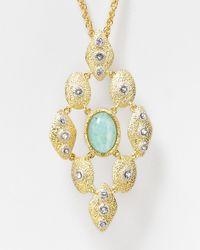 Alexis Bittar - Metallic Amazonite Pendant Necklace 30 - Lyst