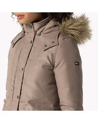 Tommy Hilfiger - Brown Down Hooded Parka - Lyst