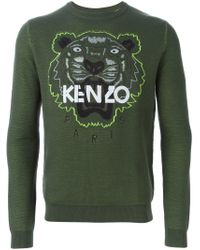 KENZO - Green 'tiger' Sweatshirt for Men - Lyst