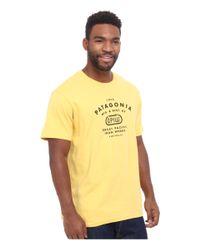 Patagonia   Yellow Gpiw Biner Cotton T-shirt for Men   Lyst