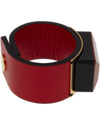 Marni - Red Resin Cuff Bracelet - Lyst