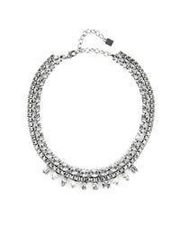 DANNIJO | Metallic Grant Silver-Plated Necklace | Lyst