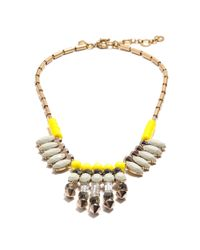 J.Crew - Multicolor Mixed Crystal Spike Necklace - Lyst