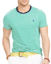 Polo Ralph Lauren | Green Striped Crewneck T-Shirt for Men | Lyst