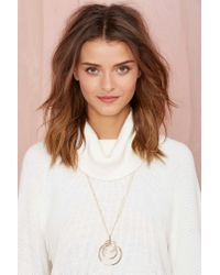Nasty Gal | Metallic Round Up Necklace | Lyst