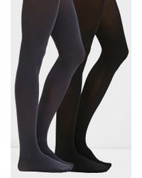 Forever 21 | Black Semi-sheer Tights Pack | Lyst