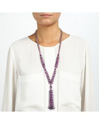 John Lewis | Purple Sparkle Tassle Necklace | Lyst