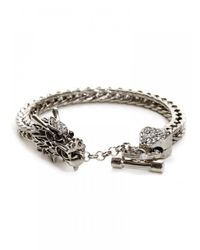 BaubleBar | Metallic Khaleesi Bracelet-Silver | Lyst
