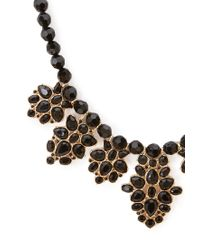 Forever 21 | Metallic Beaded Faux Gemstone Necklace | Lyst