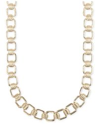 Jones New York | Metallic Gold-tone Square Link Necklace | Lyst