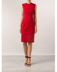 Lanvin - Red Shift Dress - Lyst