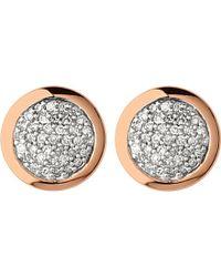 Links of London | Metallic Diamond Essentials Rose Gold Vermeil And Diamond Stud Earrings | Lyst
