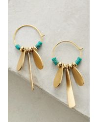 Sandy Hyun | Metallic Sprig Mini Hoops | Lyst