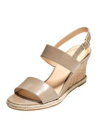 Cole Haan - Multicolor Lane Leather Wedge Sandal - Lyst