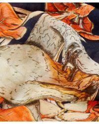 Swash London - Orange Amazonia Print Silk Scarf - Lyst