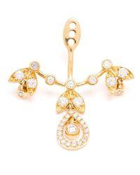 Yvonne Léon | Metallic Diamond 'Feuilletis Pampille' Lobe Earring | Lyst