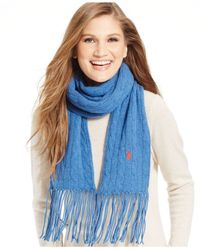 Polo Ralph Lauren | Blue Classic Cable Scarf | Lyst