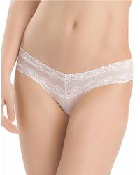Natori   White Bliss Perfection Lace V-kini Panty   Lyst