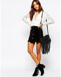 Vila | White Lace Sleeve Blouse | Lyst