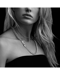 David Yurman | Metallic Buckle Chain Necklace With Diamonds | Lyst
