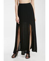 Forever 21 - Black M-Slit Maxi Skirt - Lyst