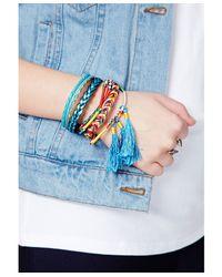 Missguided | Latica Braid Bracelet In Blue - Campaign | Lyst