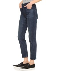 3x1 - Blue W$ High Rise Crop Boyfriend Jeans - Lyst