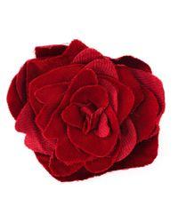 Lanvin - Red Flower Brooch - Lyst