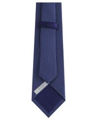 Eton of Sweden - Blue Textured Tie for Men - Lyst