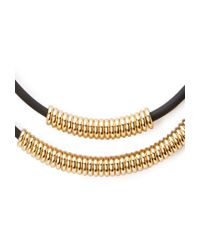 Forever 21 - Metallic Beaded Double Cord Necklace - Lyst