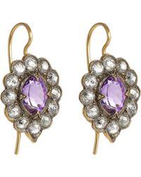 Cathy Waterman | Purple Scalloped Drop Earrings | Lyst