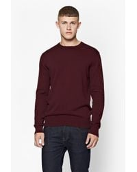 French Connection | Purple W15 Auderly Cotton Knit for Men | Lyst