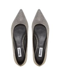 Dune   Metallic Amarie Pointed Toe Dressy Flat Shoes   Lyst